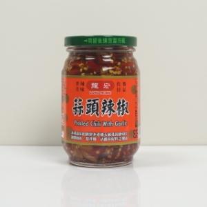 【 i 郵箱】【龍宏】 蒜頭辣椒(嚴選本土朝天椒及蒜頭切片調製而成)(460克/瓶) -4瓶裝