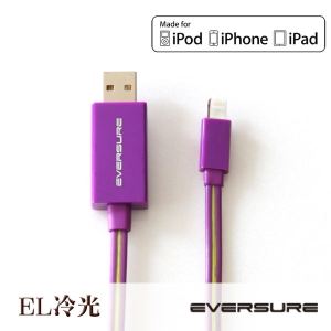 Lighted USB cable iOS EL冷光流動傳輸線